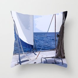 Sailing Winds - Sailing the Caribbean Throw Pillow