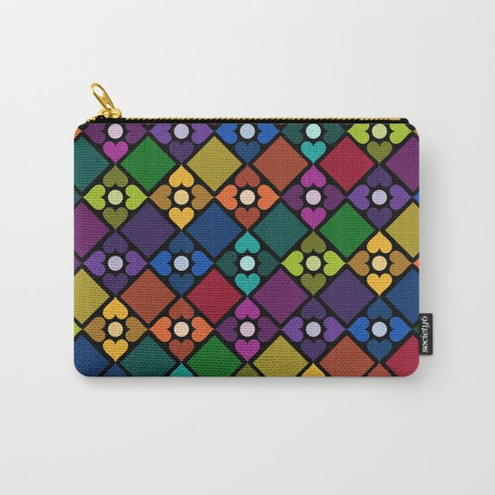 Colorful Floral Pattern Carry-All Pouch