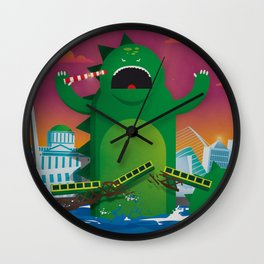 Godzilla in Dublin Wall Clock