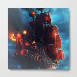 Sailing Through the Night Metal Print