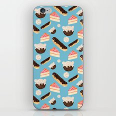 sweet things (on blue) iPhone & iPod Skin