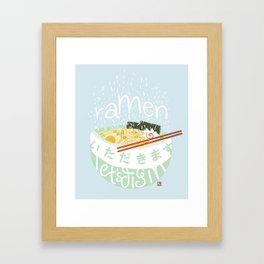 Ramen. Framed Art Print
