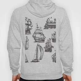 Hand drawn boats collection Hoody