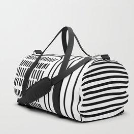 Digital Stitches thick white Duffle Bag