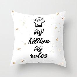 kitchen poster Throw Pillow