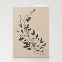 antler Stationery Cards featuring Floral Antler by Jessica Roux