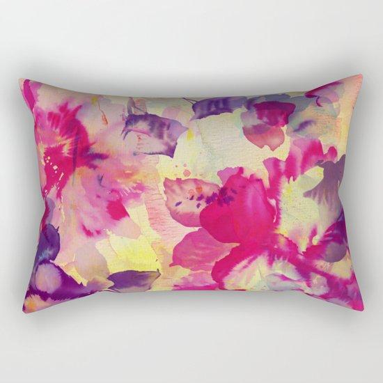 abstract aqua floral Rectangular Pillow