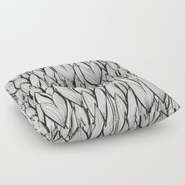 Abstract Leaves Floor Pillow