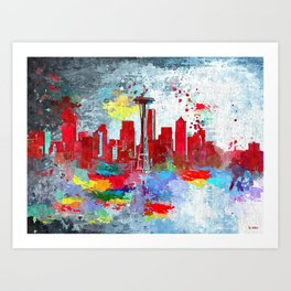 Seattle Grunge Art Print