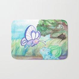 Butterfree And Bulba-saur Bath Mat