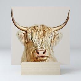 Albino Highland Cow Mini Art Print
