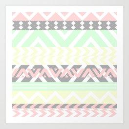 chevron pattern. Art Print
