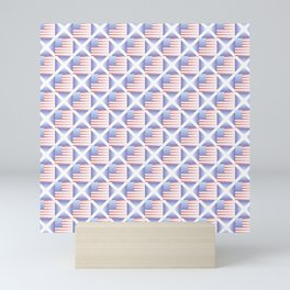 Mix of flag  : usa and scotland 2 with color gradient Mini Art Print