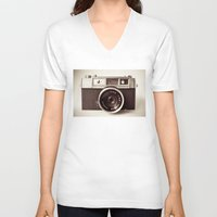 carpe V-neck T-shirts featuring Camera by Tuky Waingan