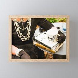 Tea with Audrey Framed Mini Art Print