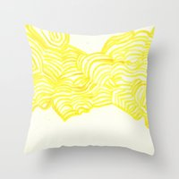 honeycomb Throw Pillows featuring Honeycomb by Mandi  Gilmore
