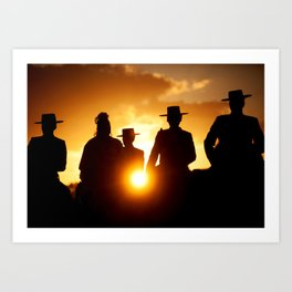 Golden pilgrims Art Print