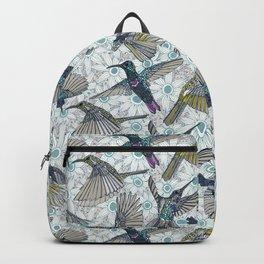 hum sun honey birds blue Backpack