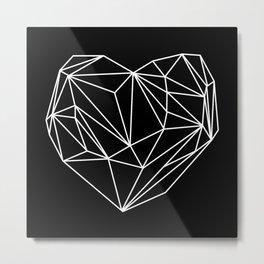 Heart Graphic (Black) Metal Print