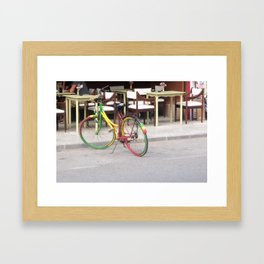 One Love Bicycle  Framed Art Print