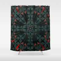 edm Shower Curtains featuring Crucible by Obvious Warrior