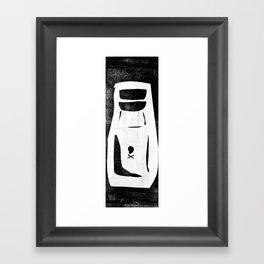 poison bottle collage Framed Art Print