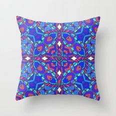 Rather be blue Throw Pillow