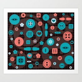 button it Art Print