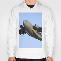 aviation Hoodies featuring C-17 Globemaster Aviation USAF Take Off by Aviator