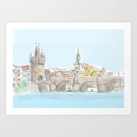 charles the Fifth bridge, Prague Art Print