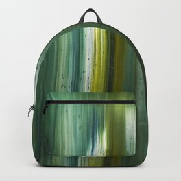 Abstract artwork #16 - The Green Light Of Nature - Abstract painting Backpack