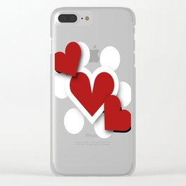Three hearts Clear iPhone Case