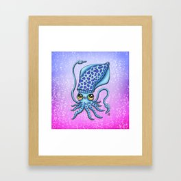 Happy Squid Framed Art Print