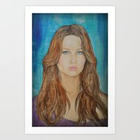 jennifer lawrence Art Prints featuring Jennifer Lawrence by Jenn