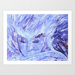 Frozen Man Art Print