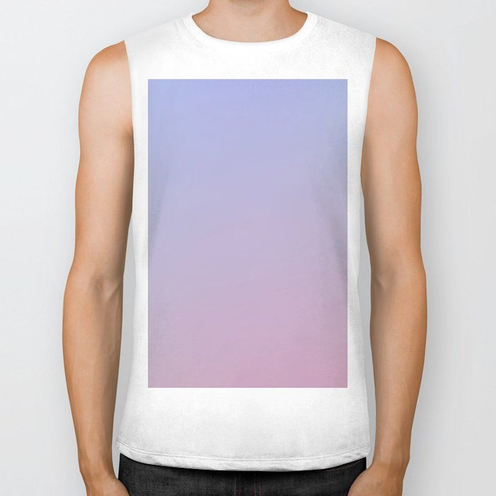 LAVENDER - Minimal Plain Soft Mood Color Blend Prints Biker Tank