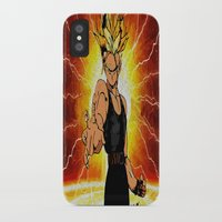 dragonball iPhone & iPod Cases featuring Dragonball Z Trunks sketch colored by bernardtime