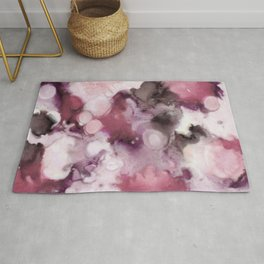 Organic Abstract in shades of plum Rug