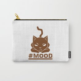 #MOOD Cat Brown Carry-All Pouch