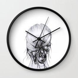 Messy Bun Wall Clock