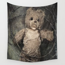 trapped teddy bear Wall Tapestry