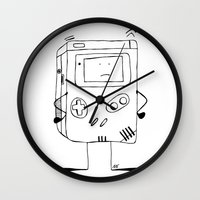 wiz khalifa Wall Clocks featuring Play wiz Me by ingicoPhotoDesign
