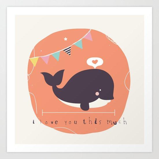 Wanda Whale Art Print