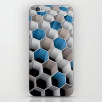 honeycomb iPhone & iPod Skins featuring Honeycomb by amanvel