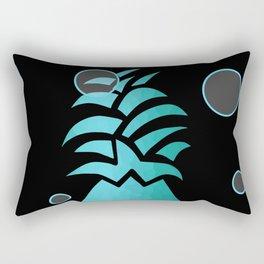 Tropical Blue And Black Rectangular Pillow