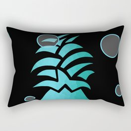Tropical Blue And Black Rectangular Pillow