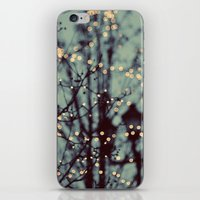 lights iPhone & iPod Skins featuring Winter Lights by elle moss