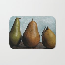 Three Pears - Still Life Bath Mat