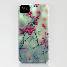 Winter Berries Slim Case iPhone (4, 4s)
