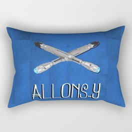 Allons-y! with Sonic Screwdrivers from Doctor Who Rectangular Pillow